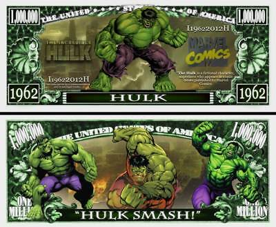 Hulk Million Dollar Bill **Novelty Money** FREE Sleeve