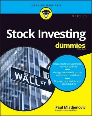 Stock Investing for dummies, Paperback by Mladjenovic, Paul, ISBN 1119239281,...