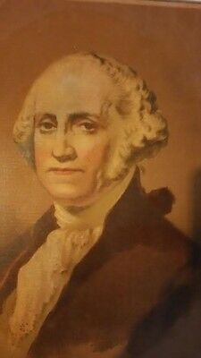 Rare Antique Original Hand colored, Stone lithograph of George Washington