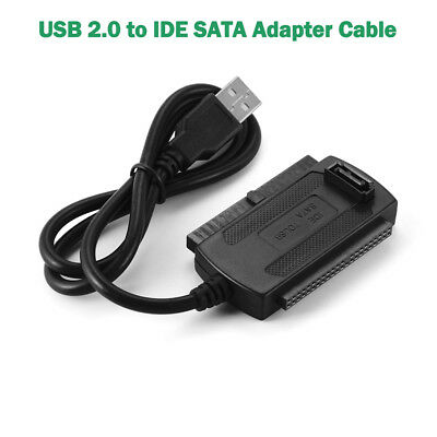 "USB 2.0 to IDE SATA 2.5"" 3.5"" HDD Hard Drive Disk Adapter Converter Cable AC1157"