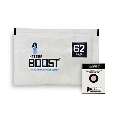 12 Pack Integra Boost RH 62% 67 gram Humidity 2 Way Control Humidor Fresh Pack