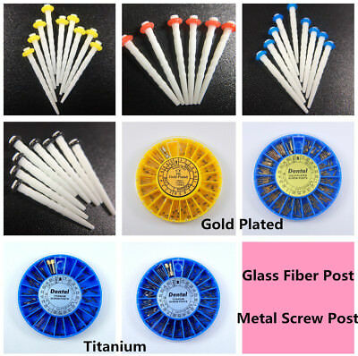 Dental Fiber Post Root Canal Pin Conical Screw Post Post-Core-Crown Repair