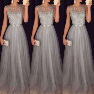 Women Formal Wedding Bridesmaid Long Evening Party Ball Gown Prom Cocktail Dress