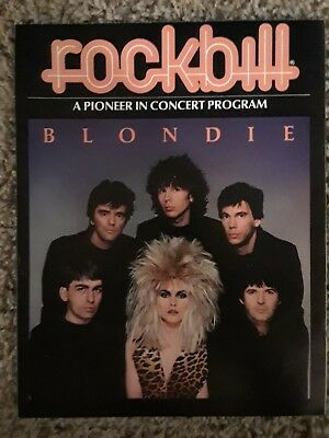 RARE!!! BLONDIE Concert Program 1982