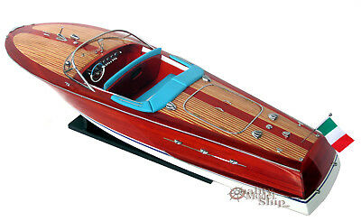 Riva Ariston Gorgeous  Handmade Wooden Model Speedboat 26""