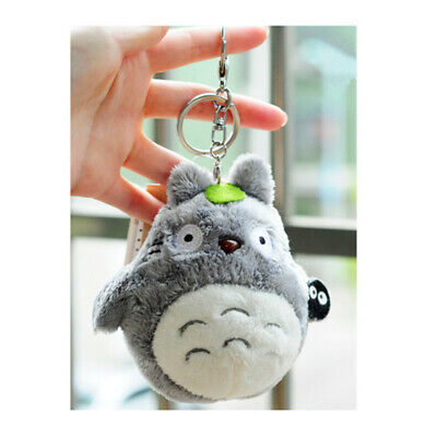 Kawaii My Neighbor Totoro Plush Doll Toy Anime Totoro Pendant Key Ring Keychain