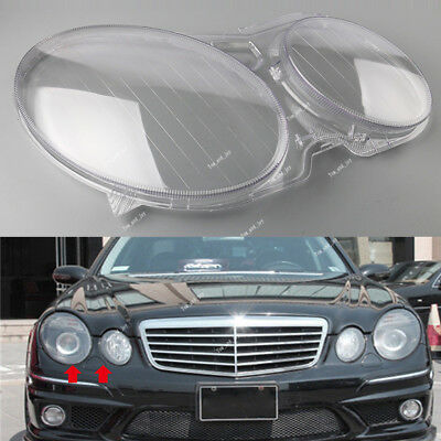 For Mercedes Benz W211 E-Class 02-08 Headlight Clear Lens Shell Cover Right Side