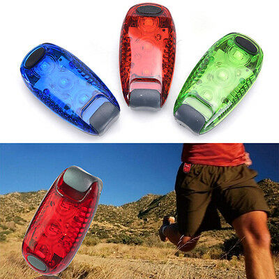 3 LED Light Clip on for Running Bike Rear Lamp Cycling Jogging Safety Warning EB