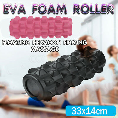 EVA Grid Foam Roller 33x14cm Physio Pilates Yoga Gym Massage Trigger Point BS