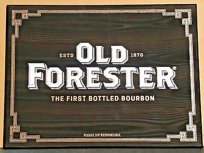 Old Forester Bourbon Whiskey Bar Pub Man Cave Wood Sign Brand New