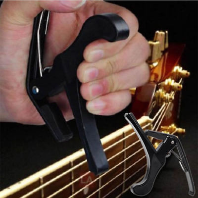 Black Guitar Capo Quick Change Trigger Clamp For Acoustic Guitar New