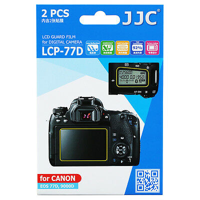 JJC 2PCS LCD Guard Film Camera Display Screen Protector For CANON EOS 77D 9000D