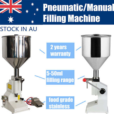 Manual Liquid Paste Filling Machine A03 Pneumatic Filling Machine A02 5-50ML