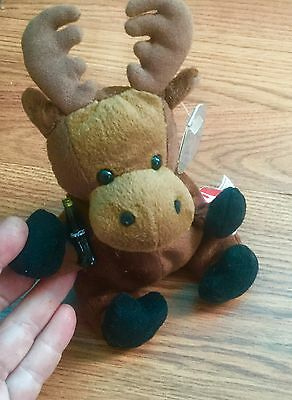 1999 Coca-Cola Canada Gourmand the Moose Mini Bean Bag-Beanie