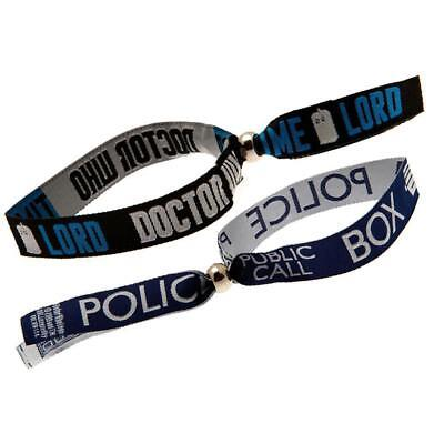 Doctor Who Police Box Festival Wristbands 1 Pair Licence Product Brand New