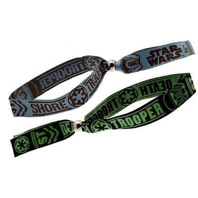 Star Wars Rogue One Empire Festival Wristbands 1 Pair Licence Product Brand New