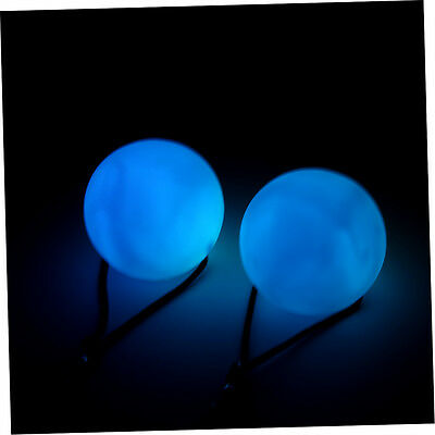 New Professional Belly Dance Level Hand Props LED RGB POI Thrown Balls #4