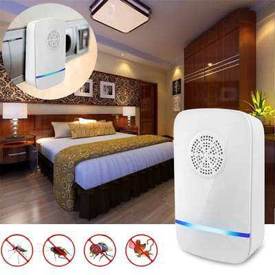Ultrasonic Pest Repeller Bug Mice Rat Spider Insect Repellent Electric Plug UK