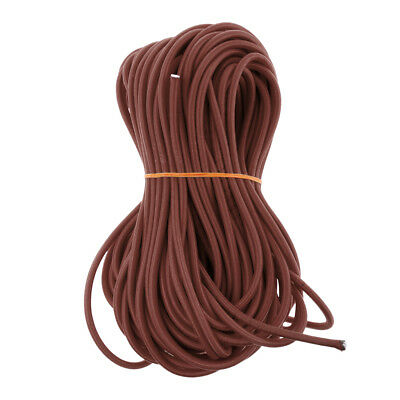 6mm Elastic Bungee Rope Shock Cord Marine Grade Stretch Cord UV Stable Brown