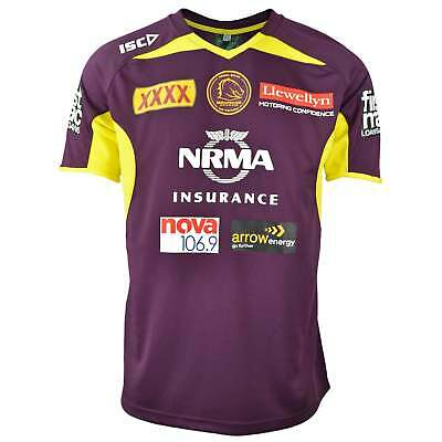ISC Brisbane Broncos 2018 NRL Training T-Shirt - Mulberry