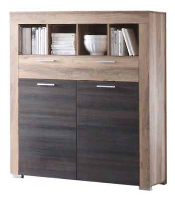 kommode boom schrank in nussbaum satin braun touchwood eur 229 95 picclick de. Black Bedroom Furniture Sets. Home Design Ideas