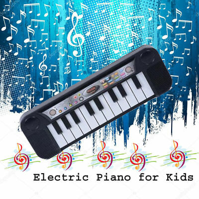 Electric Piano for Kids Keyboard Children Music Fun Toy 12 Keys Black & White