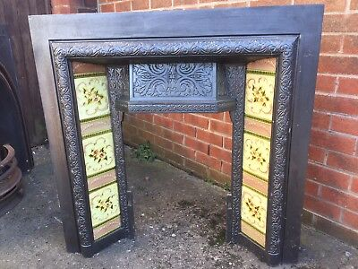 Victorian Fireplace, Tiled Fire Place