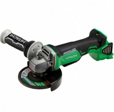 "Skin Only Hitachi 18V Li-Ion Brushless Cordless Slide 5"" 125Mm Angle Grinder New"