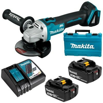 "Makita Dga506Rte 18V 5.0Ah Li-Ion Cordless Brushless 125Mm (5"") Angle Grinder"