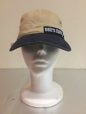 Vintage Notre Dame Fighting Irish American Needle Strapback Dad's Hat Cap