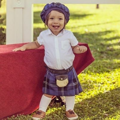 Ramsay Blue baby Kilt 4-12 month Scottish Plaid Tartan Christening Outfit?