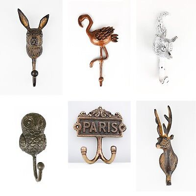 Large Metal Hooks For Wall Door Storage Coat Hooks Vintage Style Shabby Chic