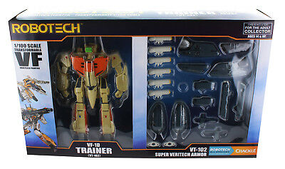 Robotech 1/100 Transformable Figure: VF-1D Trainer w/ Super Veritech Armor