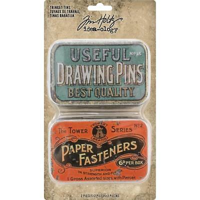 Tim Holtz Idea-Ology - Trinket Tins - 2 Hinged Boxes
