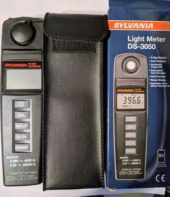 Sylvania DS-3050 Light Meter, Digital, Portable, w/ case Brand New