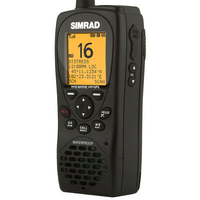 Simrad HH36 VHF Handheld with Built-In GPS Class D Dsc #000-10785-001