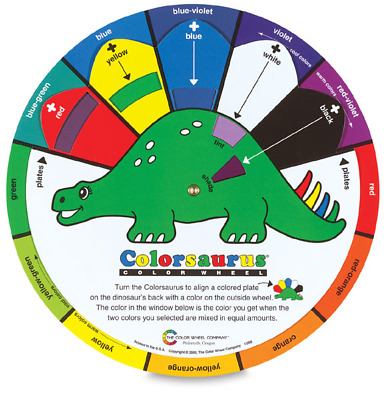 The Color Wheel Company Colorsaurus Children's Color Wheel