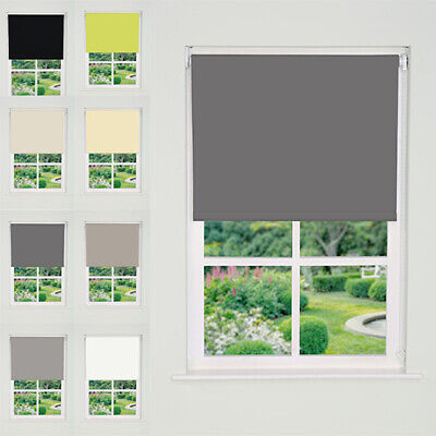 Thermal Blackout Roller Blinds 50cm - 240cm (165cm) TRIMMABLE