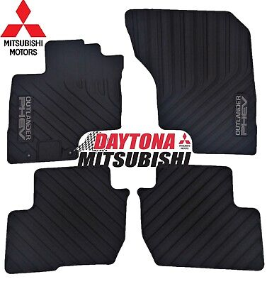 New Genuine Mitsubishi 2018 Outlander PHEV Rubber All Weather Floor Mats OEM