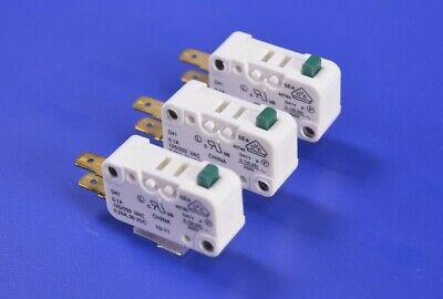 3 Cherry D4 Series Mini SPDT 0.75 N Button Quick Connect Snap Action Switch