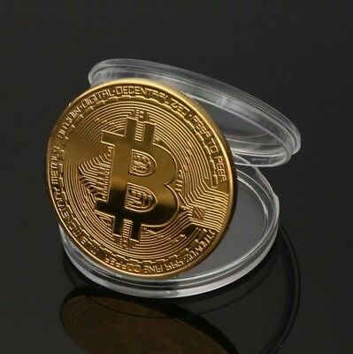 Bitcoin Münze Coin Bit Coin Gold Plated Coins