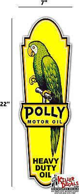 """POLL-6  22/"""" front left facing POLLY LUBSTER DECAL GAS OIL PUMP SIGN STICKER"""