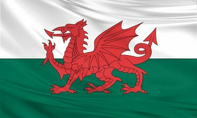 Large Wales Welsh Dragon Flag 5ft x 3ft / 1.5m x 90cm Polyester Fabric St David