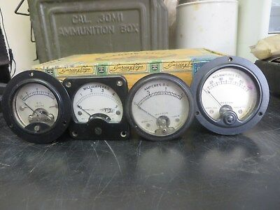 Gauge Meters-Set of 4-Weston-Hoyt-Vintage-Used