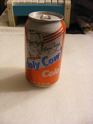 Rare 1999 Harry Caray Holy Cow Cola Can Empty 12 Fl Oz. Chicago Cubs