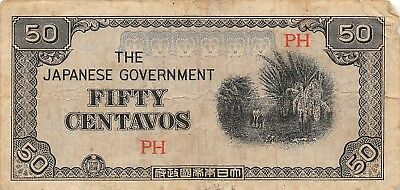 Philippines 50 Centavos, ND 1942 P.105 Japanese Government, Circulated