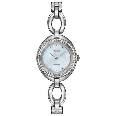 Citizen Eco-Drive Women's EX1440-61D Silhouette Crystal Accents 24mm Watch