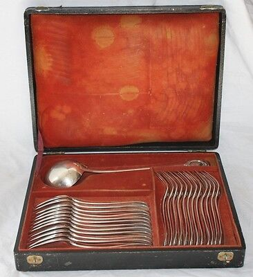 Antique French Sterling Silver 25 pc. Stew or Soup Set in Box by Henin & Vivier
