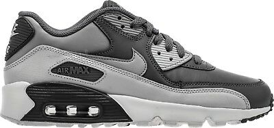 brand new 944db de84d Nike Big Kids  AIR MAX 90 LEATHER Shoes Cool Grey 833412-013 b Size