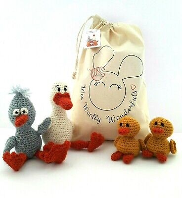 Duck and Chicks Family Luxury Alpaca Crochet Kit Craft Gift